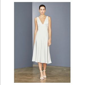 New! AMSALE LW153 Bias Cut Satin Dress